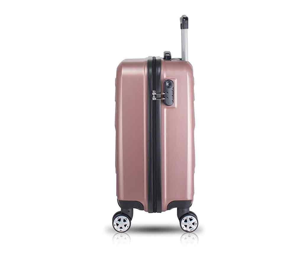 Zestaw walizka na kółkach i kosmetyczka Alice Rose Gold