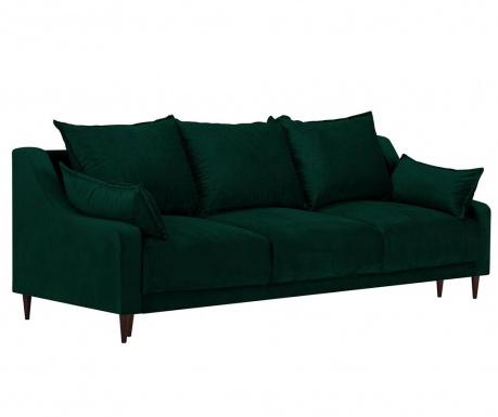 Freesia Bottle Green Háromszemélyes kihúzható kanapé
