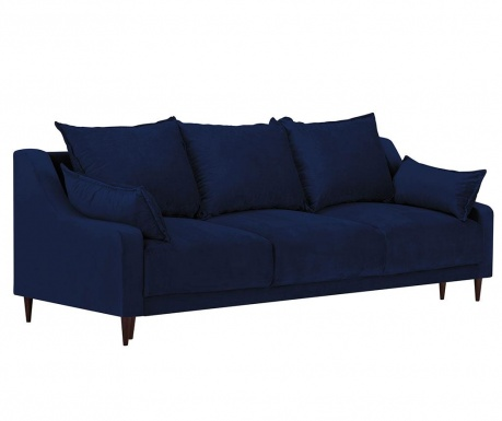 Freesia Navy Blue Háromszemélyes kihúzható kanapé