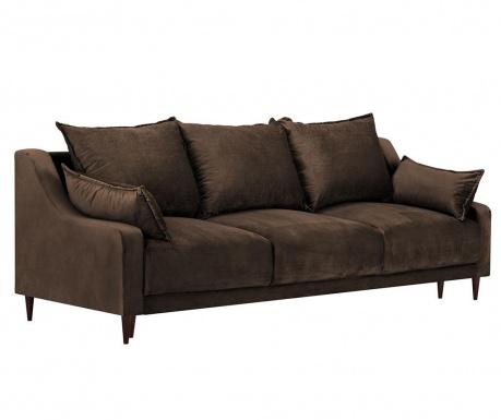 Freesia Brown Háromszemélyes kihúzható kanapé