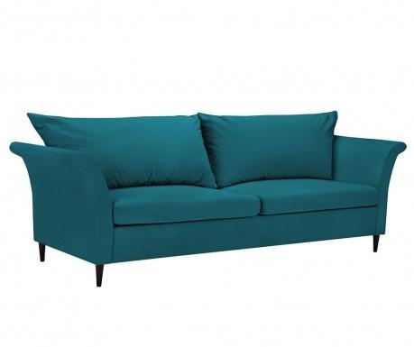 Peony Turquoise Háromszemélyes kihúzható kanapé