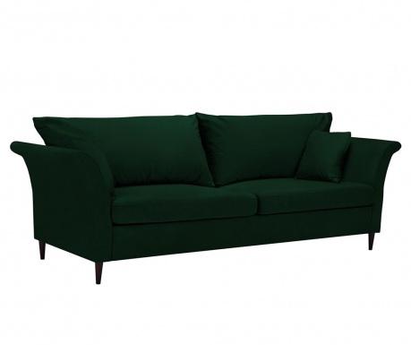 Pivoine Bottle Green Háromszemélyes kihúzható kanapé