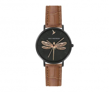 Ceas de mana dama Emily Westwood Dragonfly Brown