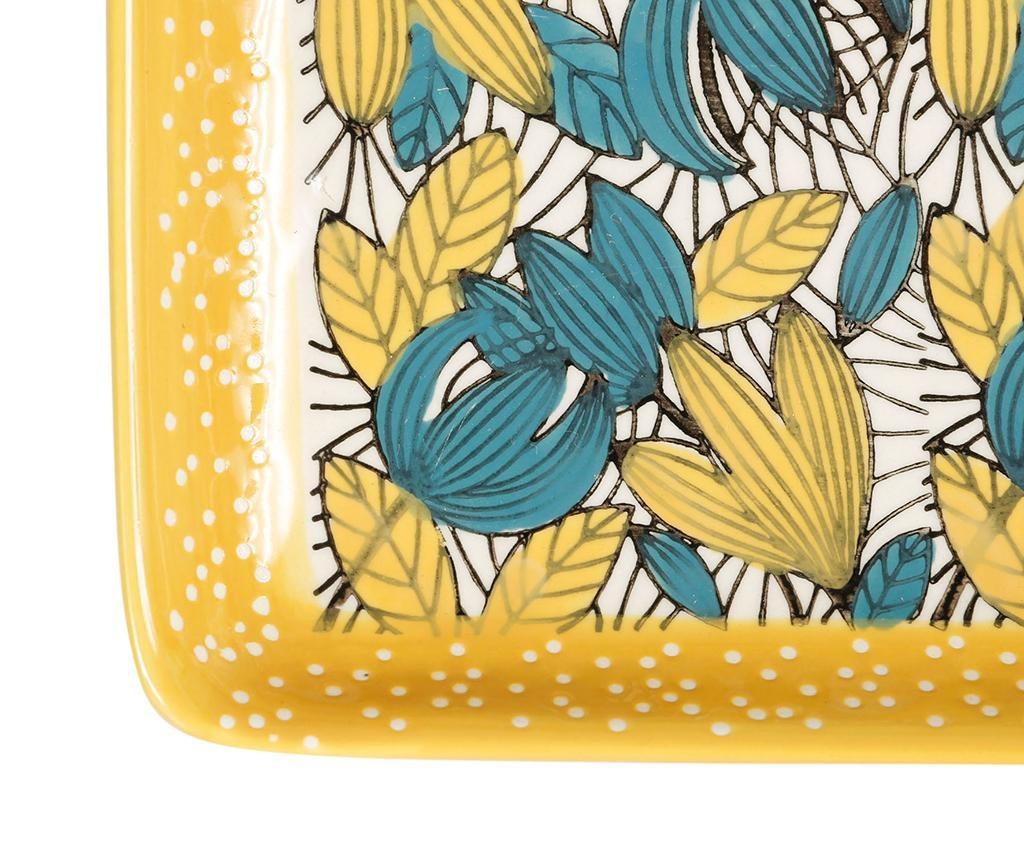 Florry Yellow Blue 2 db Szervírozó tál