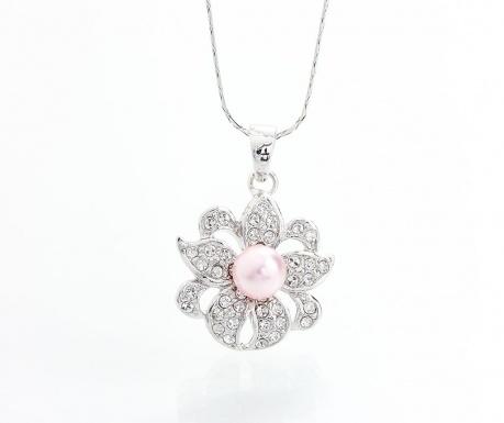 Lantisor cu pandantiv Laura Bruni Crystal Pearl Pink