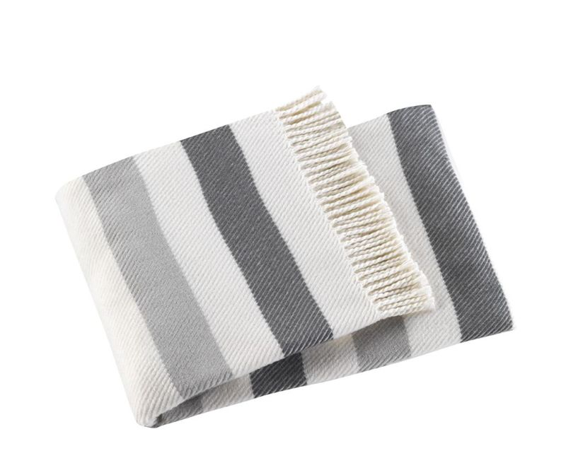 Pled Sweet Stripe Greyish 140x180 cm