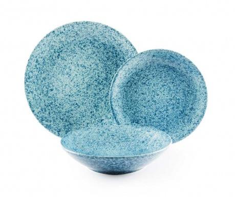 Granito Blue 18 darabos Étkészlet