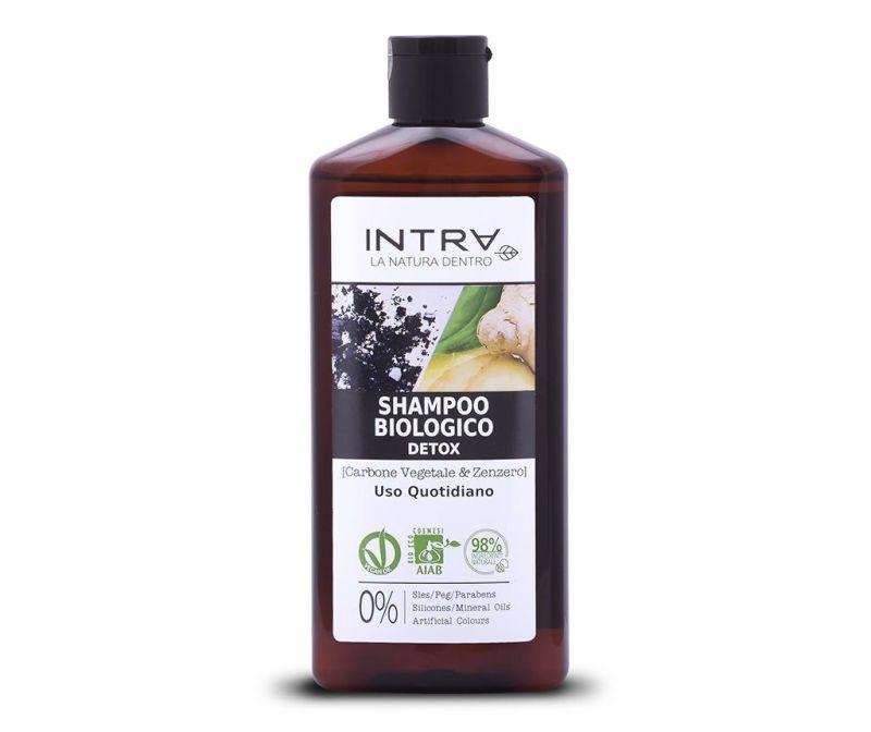 Detoksikacijski organski šampon Activated Charcoal&Ginger 250 ml