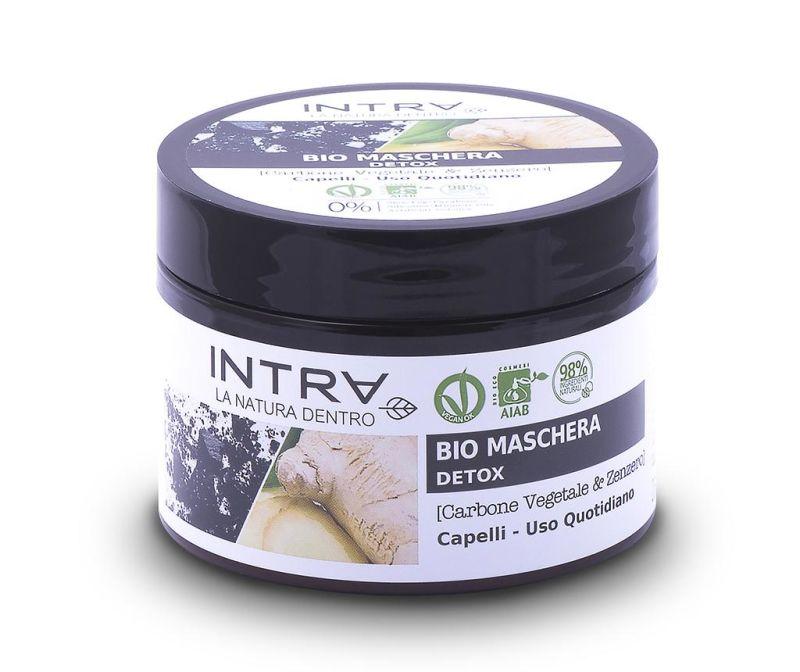 Organska maska za kosu za detoksikaciju Activated Charcoal&Ginger 250 ml