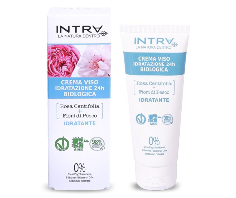 Organska hidratantna krema za lice Gentle Centifolia Rose&Peach Flowers 50 ml