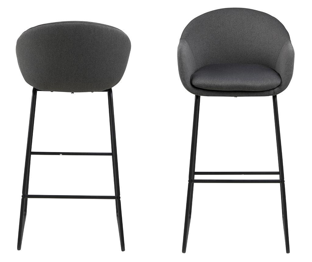 Set 2 scaune de bar Ally Black