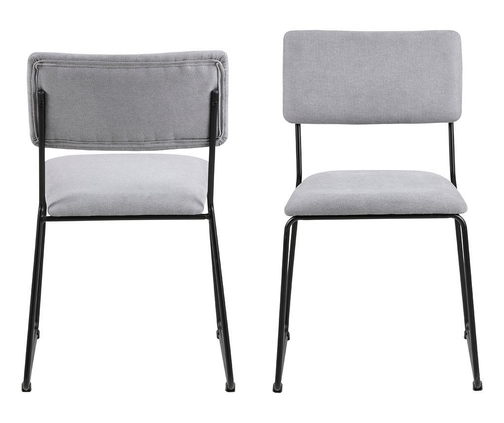 Set 2 scaune Cornelia Grey