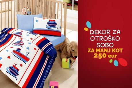 Obnova dekorja v otroški sobi za manj kot 250 EUR