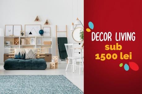 Redecorare living sub 1500 RON