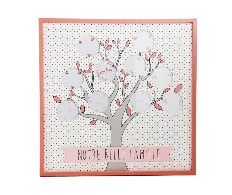 Okvir za 10 fotografij Belle Famille Dots Pink