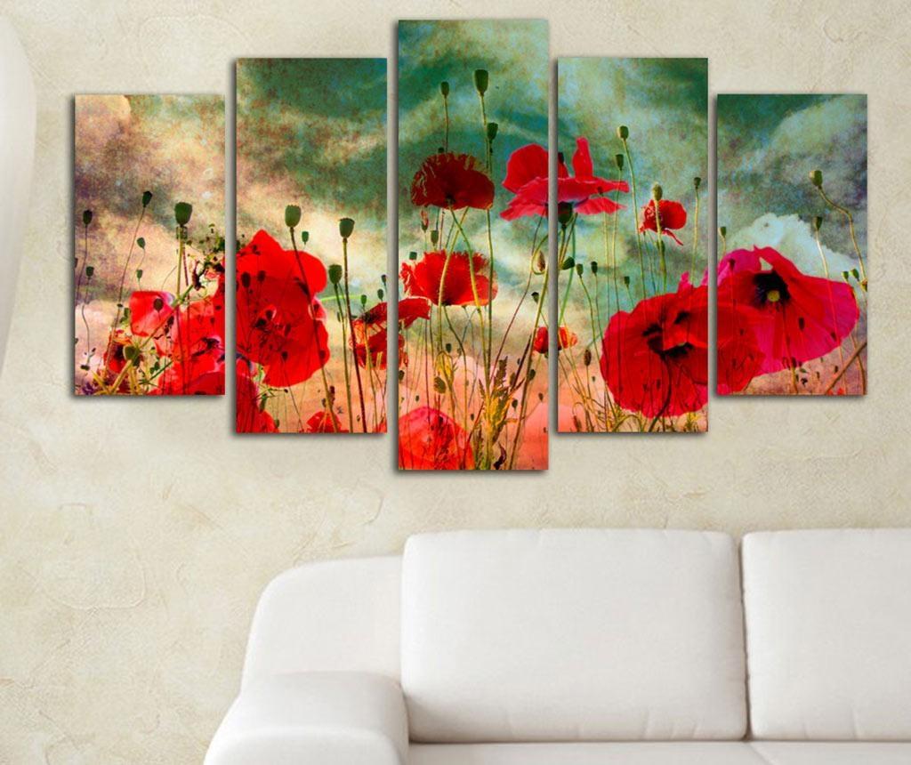 Set 5 slika Poppy Field