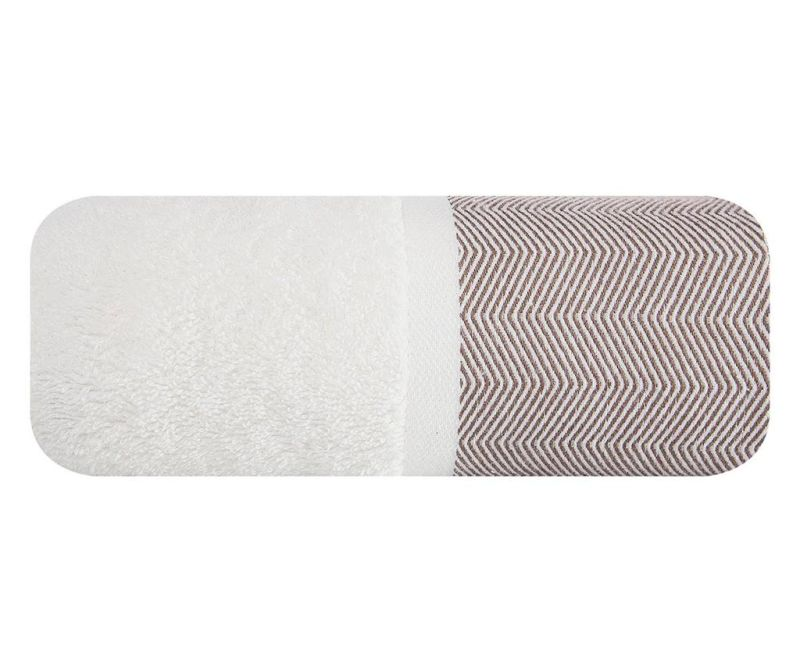 Prosop de baie Zigzag White Brown 50x90 cm