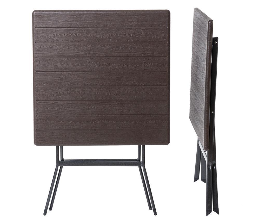 Logic Saty Brown Összecsukható kültéri asztal