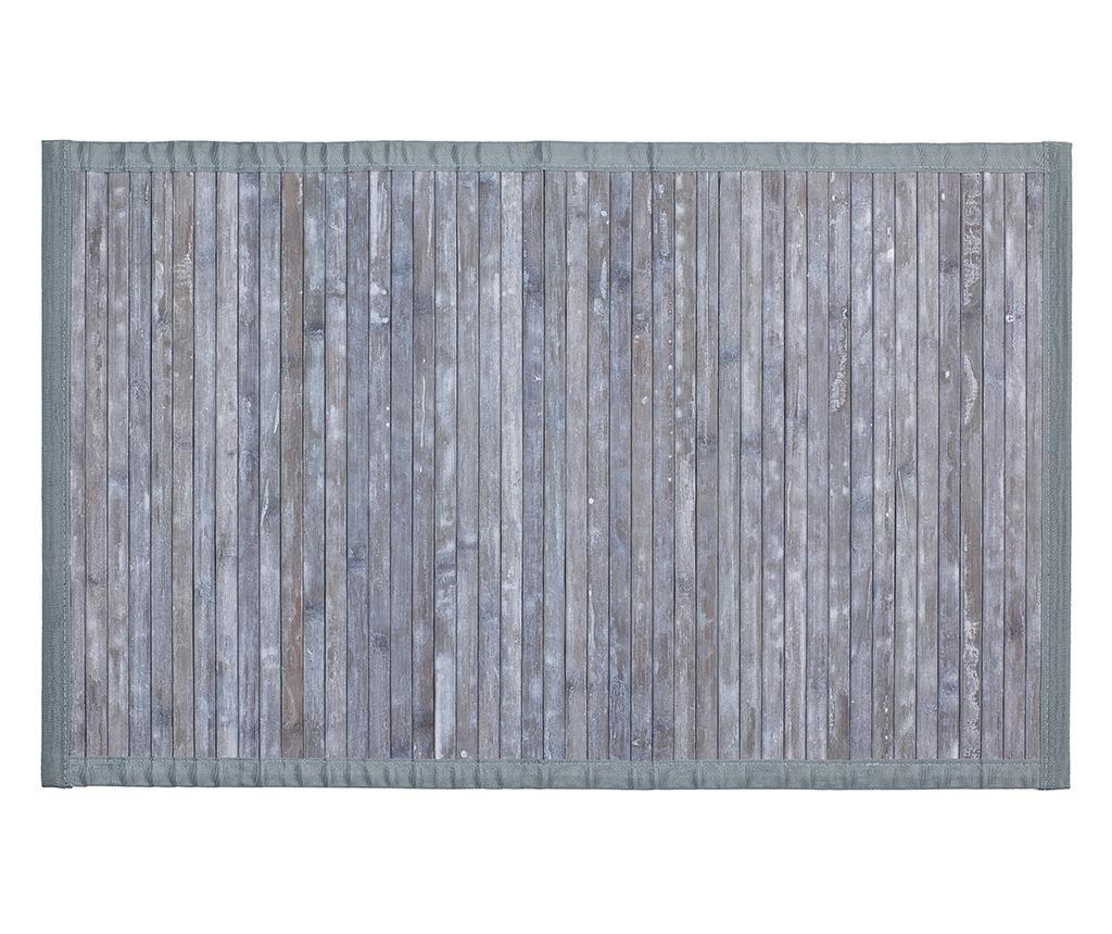 Covoras de baie Bamboo Grey 50x80 cm