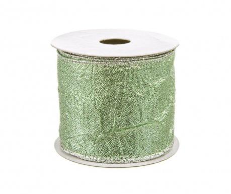 Декоративна панделка Embossed Green 400 см