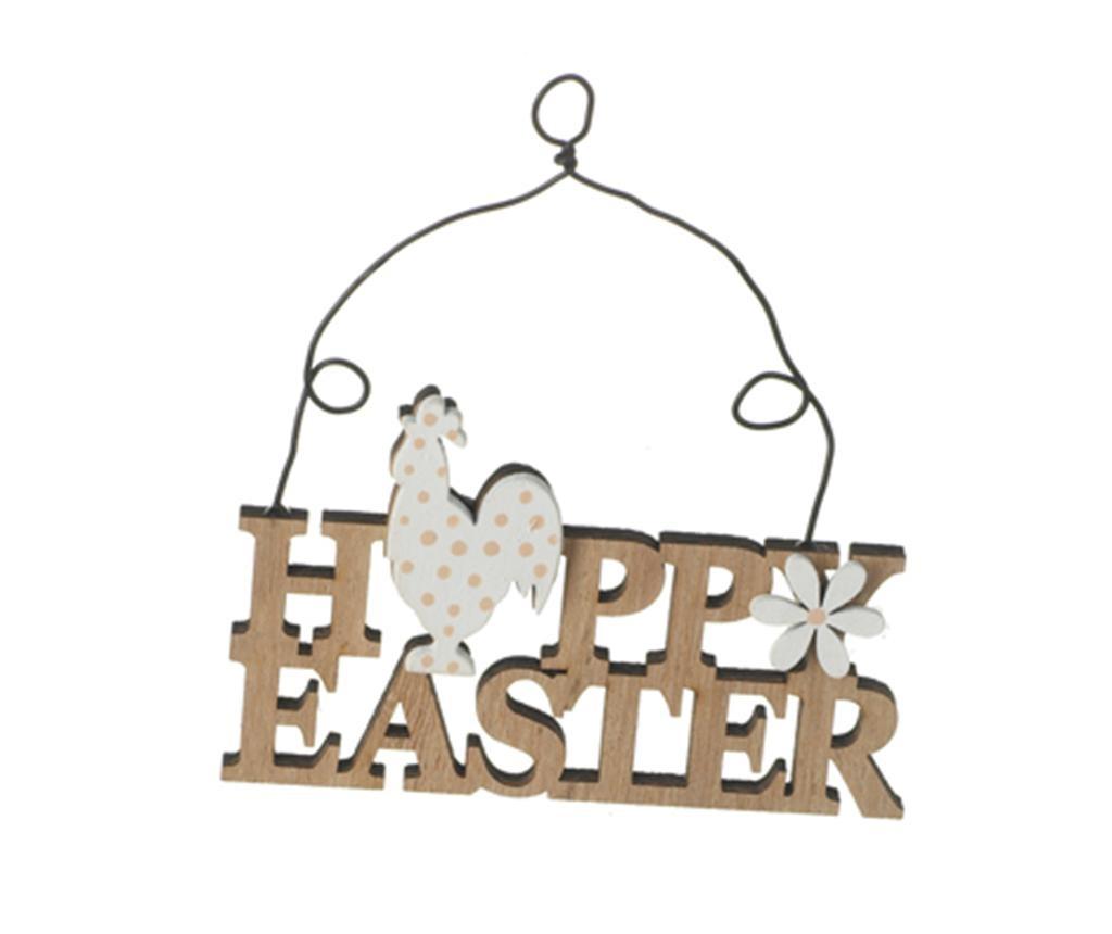 Set 4 visečih dekoracij Happy Easter Spring