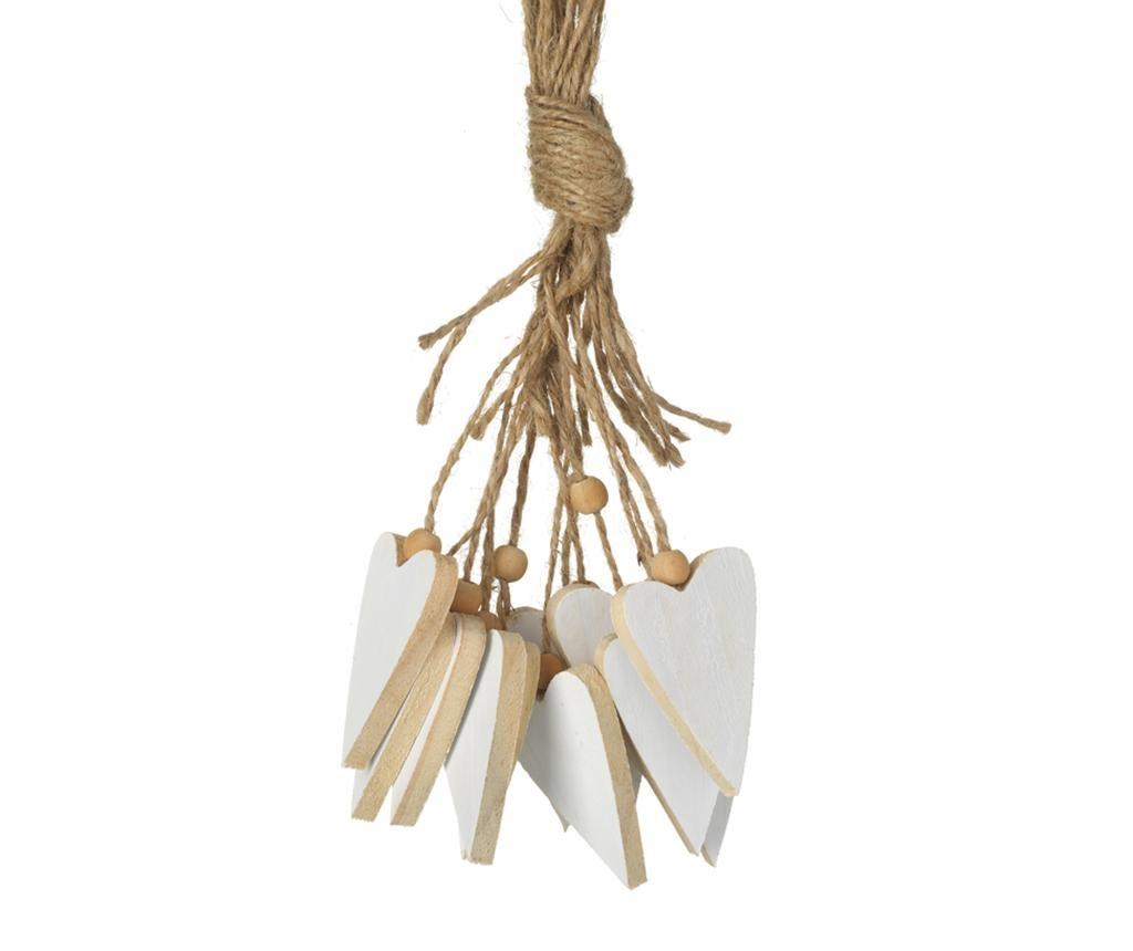 Decoratiune suspendabila Wooden Heart Cluster