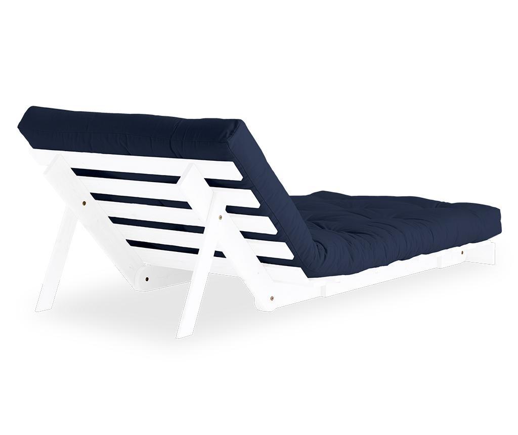 Raztegljiv fotelj Roots White & Navy 90x200 cm