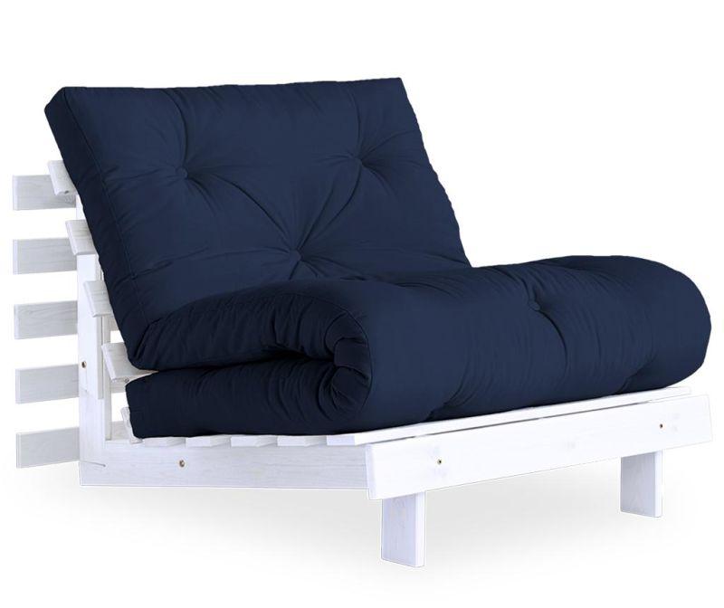 Fotelja na razvlačenje Roots White & Navy 90x200 cm