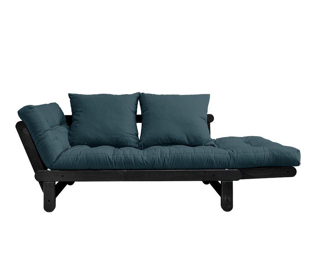 Kauč na razvlačenje Beat Black & Petrol Blue