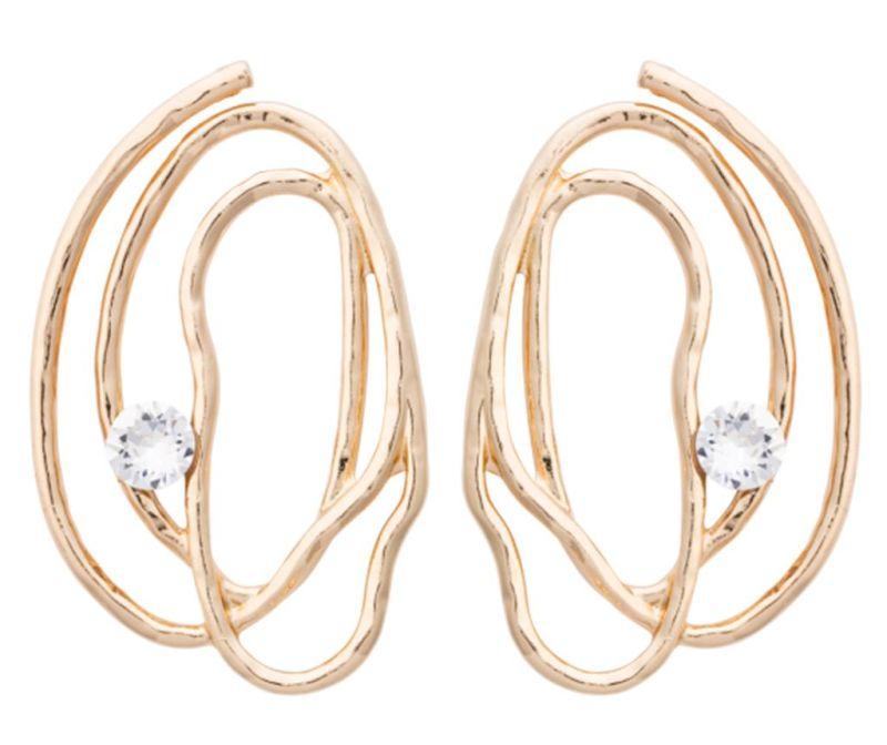 Cercei Calliope Gold Crystal