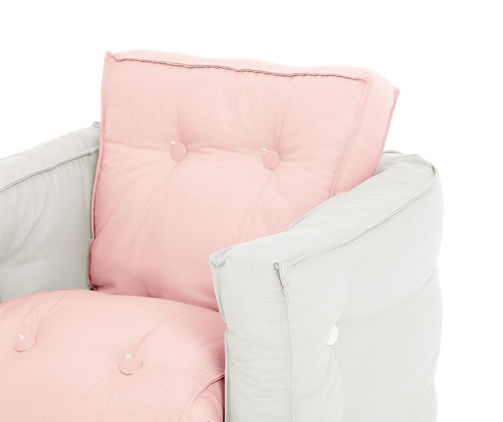 Dječja fotelja na razvlačenje Mini Dice Pink Peonie 40x140 cm