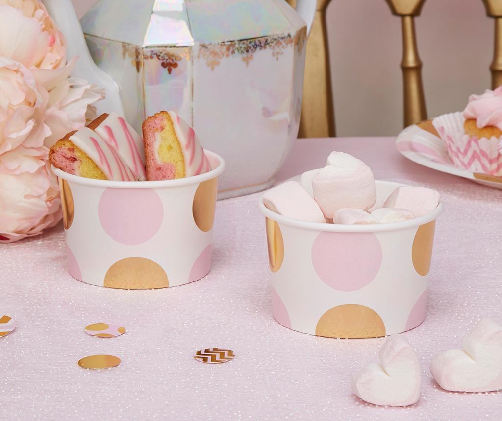 Set 8 zdjela za sladoled za jednokratno korištenje Pattern Works Dots