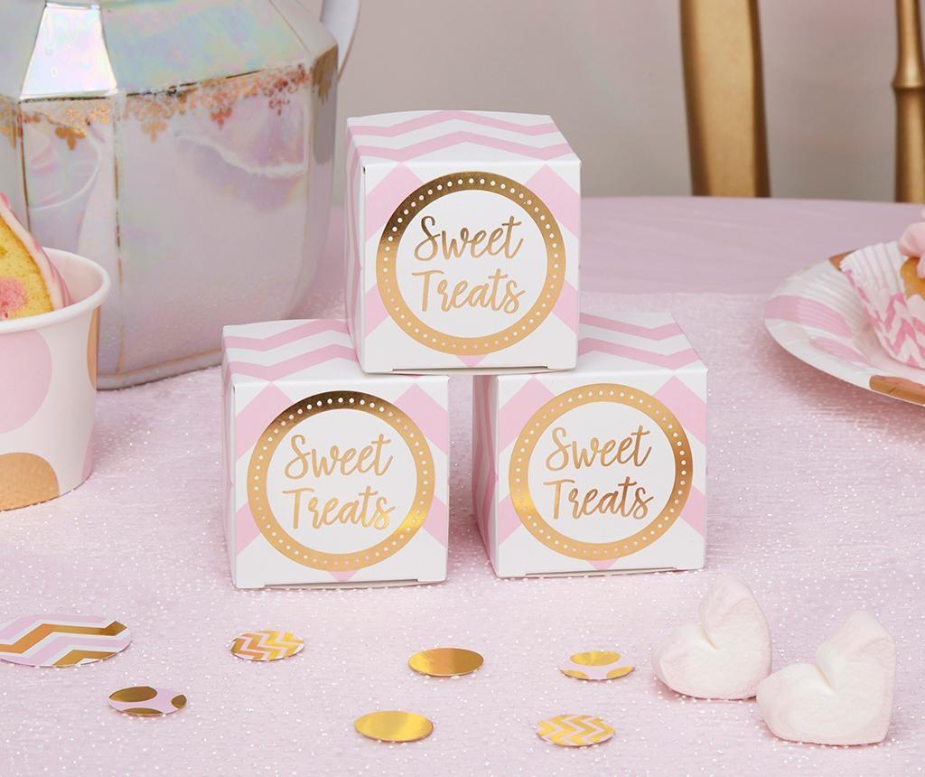 Set 10 poročnih škatel Pattern Works Pink