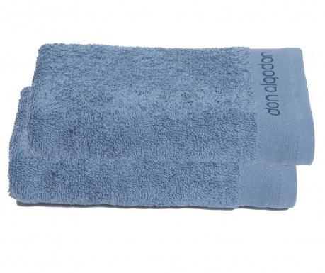 Σετ 2 πετσέτες μπάνιου Tocador Blue Marine 30x50 cm