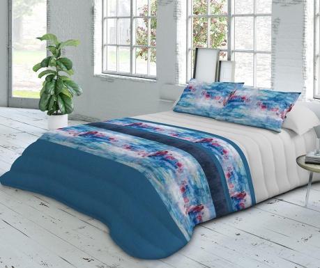 Zestaw pikowany na łóżko Extra Satin Ocean Blue