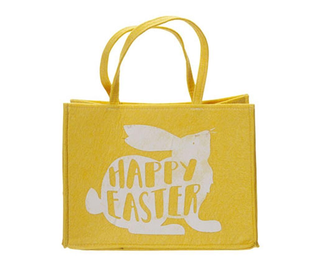 Nakupovalna torba Happy Easter Yellow