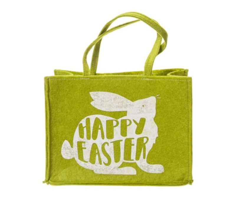 Nakupovalna torba Happy Easter Green