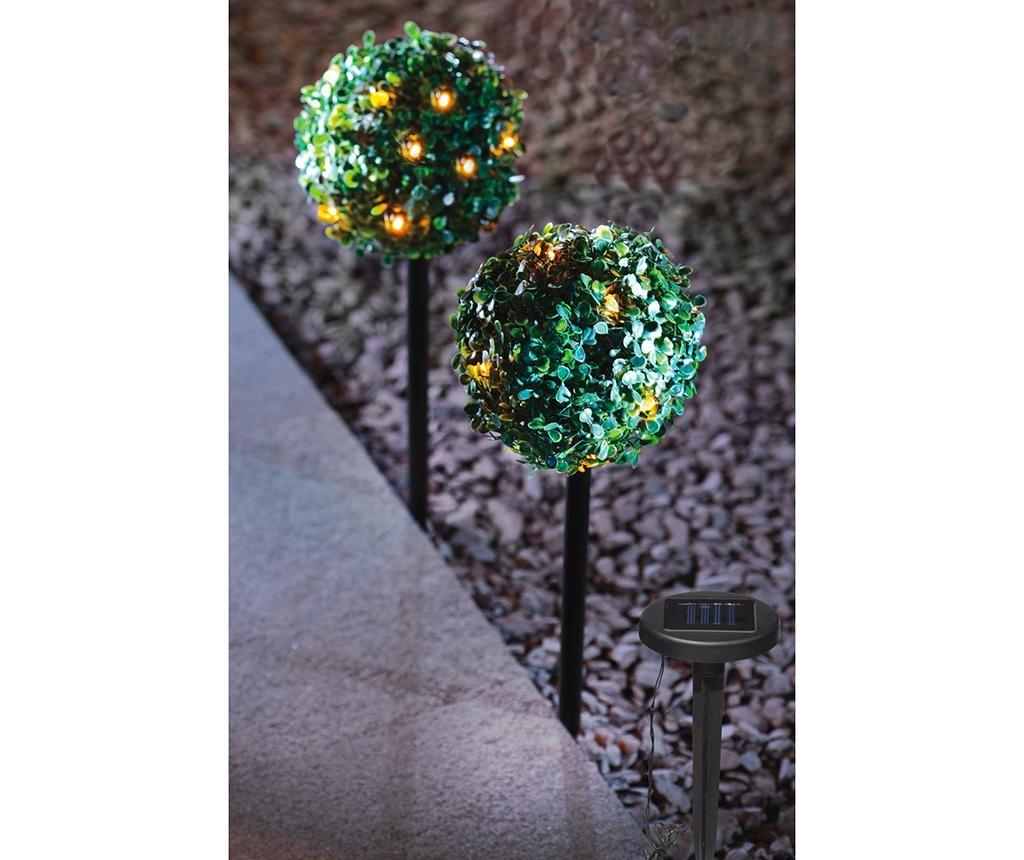Set 2 decoratiuni luminoase pentru exterior Solar