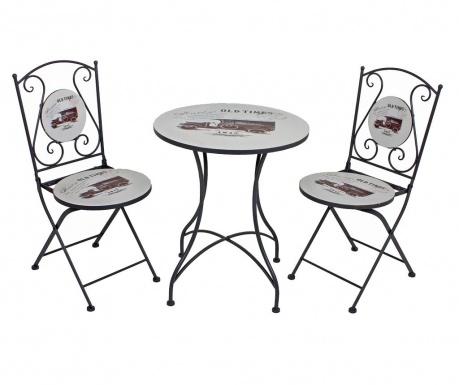 Σετ τραπέζι και 2 καρέκλες εξωτερικού χώρου Versal