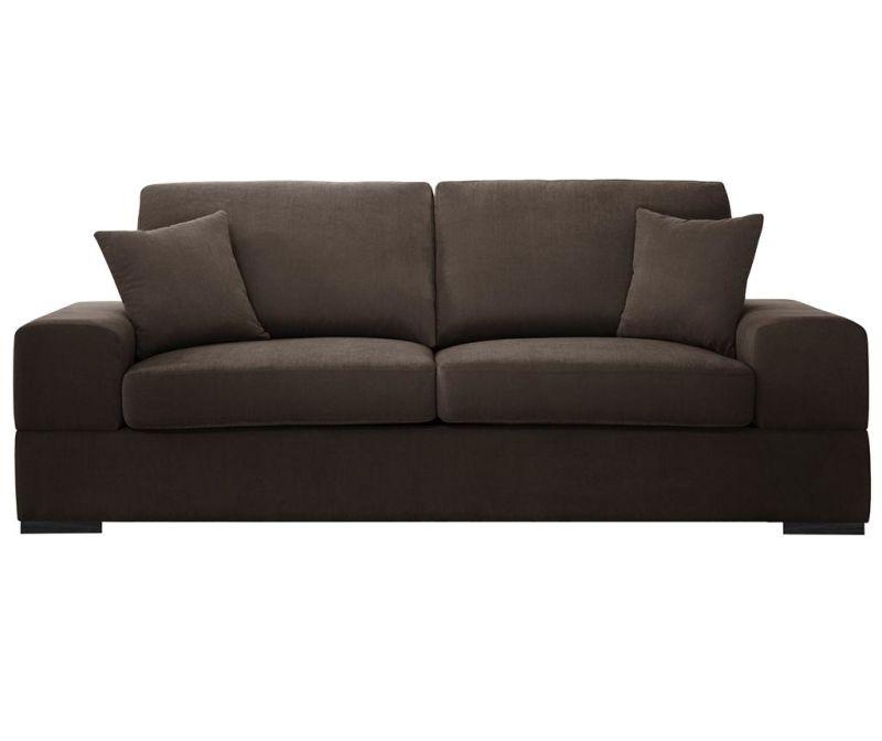 Dasha Brown Háromszemélyes kihúzható kanapé