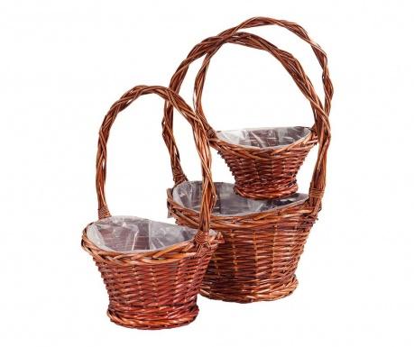 Rustic Baskets 3 db Virágcserép