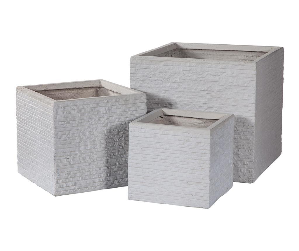 Set 3 stojal za cvetlične lonce Concrete Wall