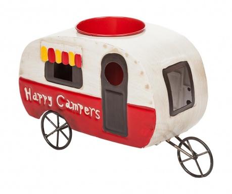 Vintage Happy Campers Virágcserép tartó