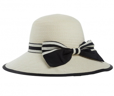Classy Bow Creamy White Női kalap