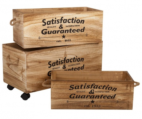 Satisfaction Guaranteed 3 db Tárolóláda