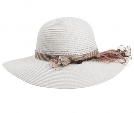 Dámský klobouk Garden Feathers White