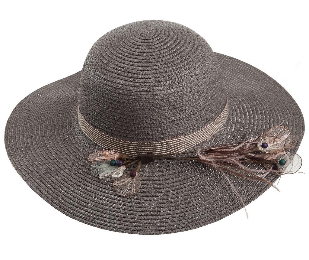 Ženski klobuk Garden Feathers Grey