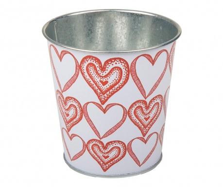 Hearts Pattern Doodle Virágcserép tartó