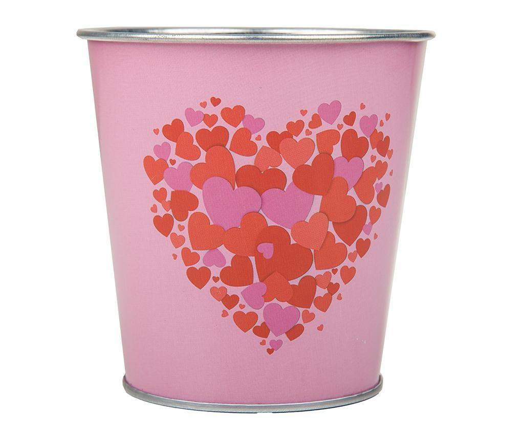 Květináč Hearts Pink Red