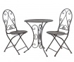 Sada venkovní stůl a 2 židle Classic Pattern Black